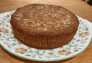 rhubarb and almond cake